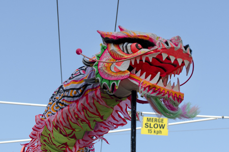 year of the snake: WELLINGTON - FEB 24:Chinese dragon during the Year of the lunar snake on February 24 2013 Wellington,NZ.The Chinese Spring Festival is the most important traditional Chinese holidays.
