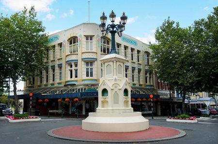 watt: WANGANUI - FEB 22:The Watt Fountain in Victoria Avenue on February 22 2013 in Wanganui New Zealand.Wanganui was shortlisted as one of 21 Intelligent Communities worldwide for 2013. Editorial