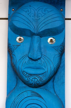 migrated: KAITAIA, NZ - NOV 05:Figure of a Maori male on Nov 05 2013.Maori are the indigenous people of New Zealand. Originally from Polynesia, Maori migrated to New Zealand over 1000 years ago.