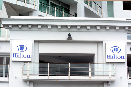 new ipo: AUCKLAND,NZ - OCT 13 2015: Hilton Auckland, New Zealand. On December 12, 2013, Hilton again became a public company in its second IPO to raise an estimated $2.35 billion. Editorial