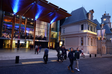 AUCKLAND - OCT 13 2015:Visitors at Auckland Art Gallery Toi o Tamaki. It's a famous public gallery in Auckland that has the most extensive collection of national and international art in New Zealand.