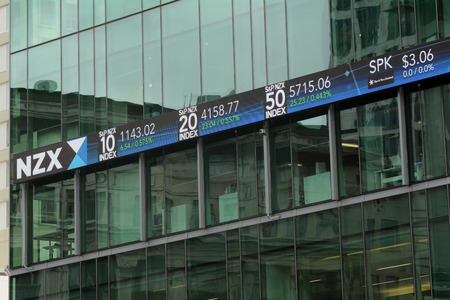 AUCKLAND,NZ - OCT 13 2015:NZX in Auckland New Zealand.As of November 2014, NZX had a total of 258 listed securities with a combined market capitalisation of $94.1 billion