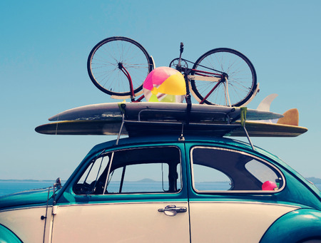 Vintage Summer holiday road trip vacation, Travel concept with copy space