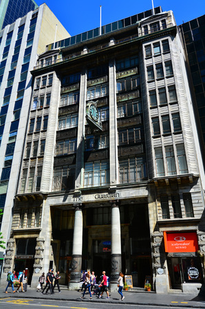 AUCKLAND,  NZL - NOV 05 2015:Guardian building in Auckland CBD, New Zealand.Its one of the oldest heritage office buildings in Auckland, New Zealand buit in 1918.
