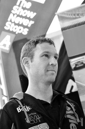 celeb: AUCKLAND - NOV 05 2015:V8 Supercars champion driver David Reynolds meet Motorsport fans in Auckland, New Zealand. Editorial