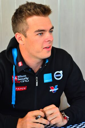 celeb: AUCKLAND - NOV 05 2015:V8 Supercars champion driver Scott McLaughlin  meet Motorsport fans in Auckland, New Zealand.