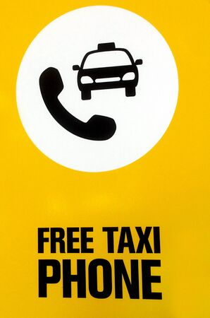 toll free: Free taxi phone. Signs and symbols