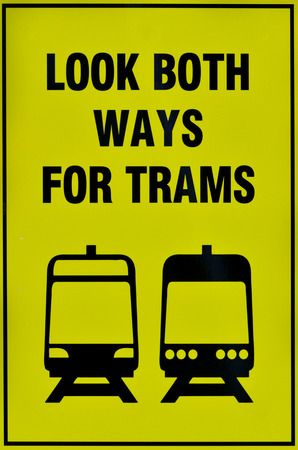 tramway: Transportation traffic sign of tramway tram system.