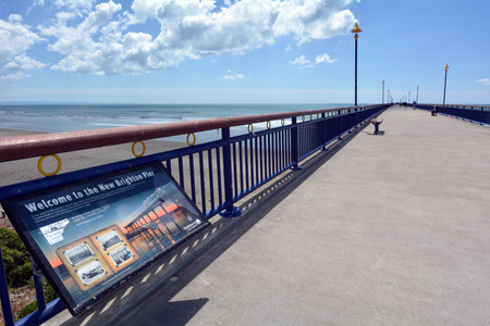 australasia: CHRISTCHURCH,  NZL - DEC 07 2015:New Brighton Pier in Christchurch. The pier is one of Christchurch main tourist attractions, spanning 300 meters long, it is the longest pier in the Australasia