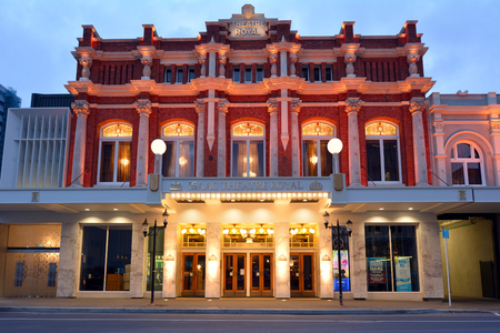 rebuild: CHRISTCHURCH - DEC 04 2015:Isaac Theatre Royal. Its one of the most intricate rebuilding projects of the 2011 earthquake that damaged Christchurch CBD with an overall rebuild cost of NZ$40M. Editorial