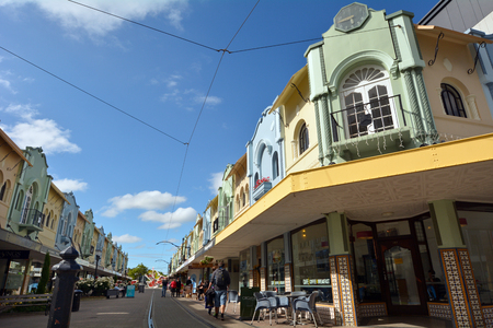 reclaiming: CHRISTCHURCH - DEC 06 2015:Visitors in New Regent Street. Christchurchs beloved New Regent Street is reclaiming its place as a one of the most popular shopping and visitor destination Editorial