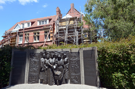 suffrage: CHRISTCHURCH - DEC 06 2015: Kate Sheppard National Memoria.The 1893 Womens Suffrage Petition led to New Zealand becoming the first self-governing nation where women won the right to vote. Editorial