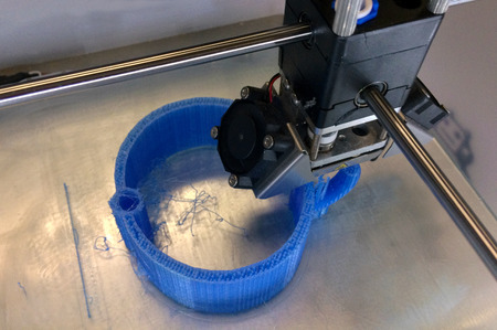 AUCKLAND - DEC  22 2015:3D printing machine at work.One of the greatest benefits of 3D printing has been experienced through its facilitation of organ transplants in the medical field.