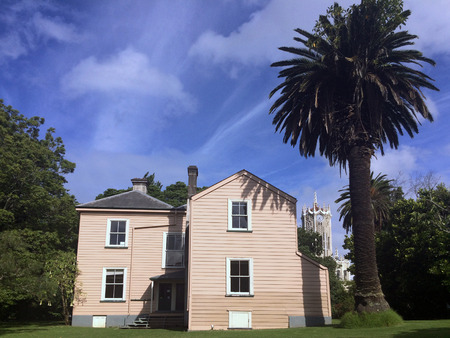 leases: AUCKLAND,  NZL - AUG 01 2015:Victorian merchant house.Its one of five houses that should have come down when the 99-year leases expired, but survived to show the lifestyles of the colonial elite. Editorial