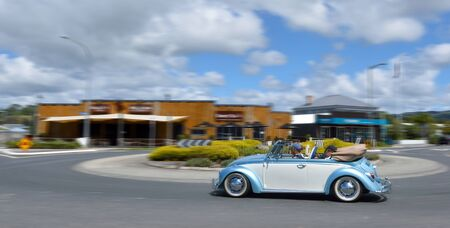 typ: MATAKANA, NZL - JAN 25 2016:German motor car convertible Volkswagen classic Beetle.Manufactured for 65 years 1938 - 2003  Its the longest produced vehicle in history with 21,529,464 Beetles built Editorial