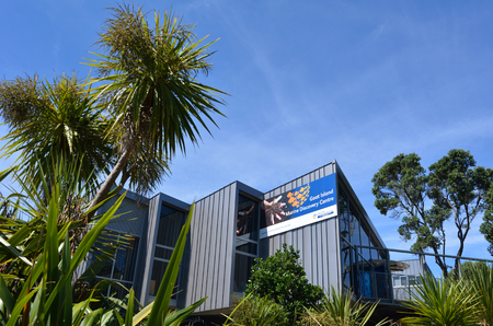 sea life centre: GOAT ISLAND, NZL - JAN 25 2016:Goat Island Marine Discovery Centre.Its a research facility and visitors center dedicated for researching New Zealand unique marine environment.