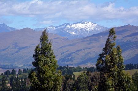 aotearoa: Landscape of the Coronet Peak Mountain in Otago, New Zealand. Stock Photo
