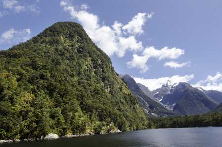milford: Wild landscape of Milford Sound, New Zealand Stock Photo