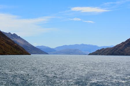 wakatipu: Landscape of lake Wakatipu in Otago, New Zealand.
