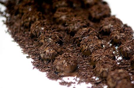chocolate balls: Mix of dipped Chocolate balls on display.