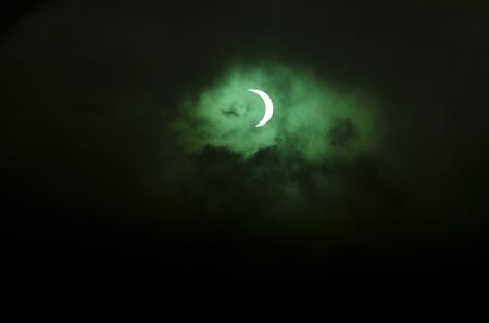sattelite: The partial solar eclipse passes over Northland New Zealand