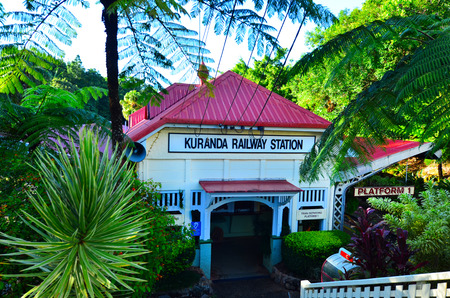 Kuranda train station in the tropical north of Queensland Australia