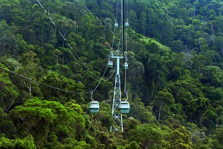 kilometre: Skyrail Rainforest Cableway, a 7.5 kilometre scenic cableway running above the Barron Gorge National Park a World Heritage in the Wet Tropics of Queensland, Australia.
