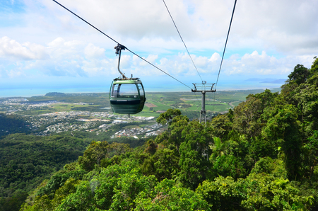 kilometre: Skyrail Rainforest Cableway, a 7.5 kilometre scenic cableway running above the Barron Gorge National Park  in the Wet Tropics of Queensland, Australia.