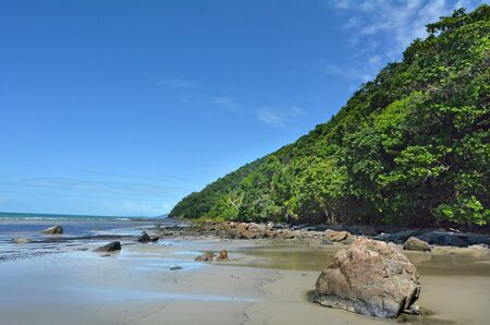 tribulation: Landscape of Cape Tribulation in Daintree National Park in the far tropical north of  Queensland, Australia