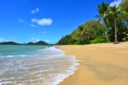 Landscape of Clifton beach near Cairns in Tropical North Queensland, Queensland, Australia.