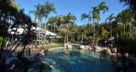 port douglas: PORT DOUGLAS, AUS - APR 19 2016:A resort in Port Douglas a very popular travel destination in the tropical north of Queensland, Australia.