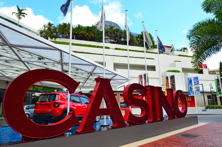 hotel and casino: CAIRNS - APR 22 2016:The Reef Hotel Casino in Cairns Queensland Australia.The Reef Hotel Casino or Pullman Reef Hotel Casino is the only casino in Cairns, Queensland.
