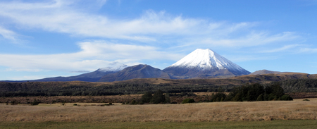 trilogy: Panoramic landscape of Mount Ngauruhoe  and Mount Tongariro in Tongariro National Park, It was used as a stand-in for the fictional Mount Doom in Peter Jacksons The Lord of the Rings film trilogy.