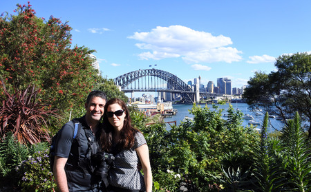 new south wales: A happy couple visit in Sydney New South Wales, Australia
