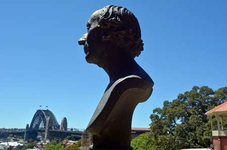 hans: Hans Christian Andersen statue on Observatory hill in Sydney. He was a Danish author who best remembered for his fairy tales Editorial