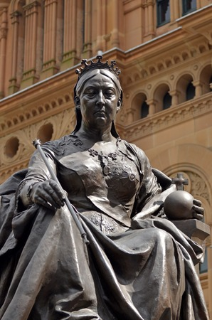Queen Victoria Statue in Sydney City New South Wales  Australia