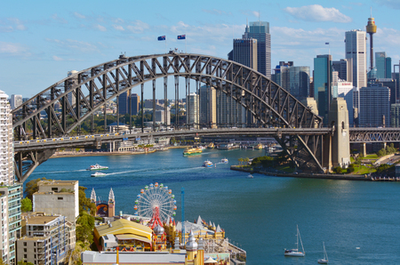 Aerial view of Sydney skyline in New South Wales, Australia. Editorial