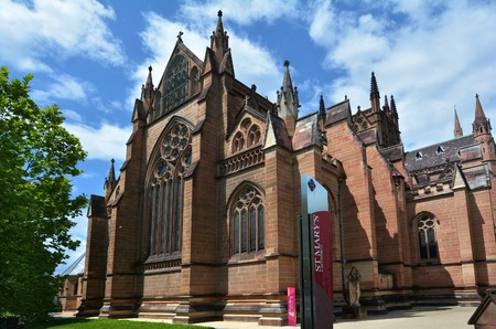 St Marys Cathedral facade in Sydney New South Wales, Australia