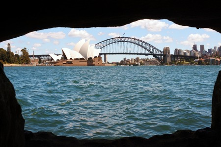 new south wales: Panoramic view of Sydney skyline in New South Wales, Australia.