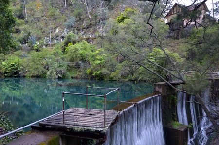 new south wales: A dam on the Blue Lake near the Jenolan Caves at the Blue Mountains in New South Wales, Australia.