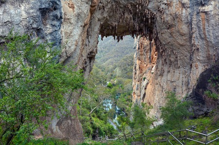 new south wales: Landscape of Carlotta Arch in the Jenolan Caves at Blue Mountains of New South Wales, Australia. Stock Photo