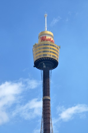 amp tower: SYDNEY - OCT 19 2016: Sydney Tower, Sydneys tallest structure and the second tallest observation tower in the Southern Hemisphere.