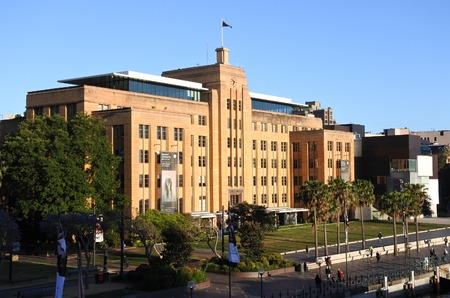exhibiting: Sydney, Australia - OCT 23 2016:Museum of Contemporary Art Australia. Australian museum solely dedicated to exhibiting and collecting contemporary art, both from across Australia and around the world Editorial