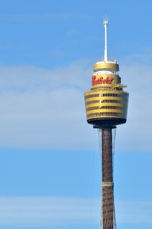 amp tower: SYDNEY - OCT 19 2016:Sydney Tower, Sydneys tallest structure and the second tallest observation tower in the Southern Hemisphere. Editorial