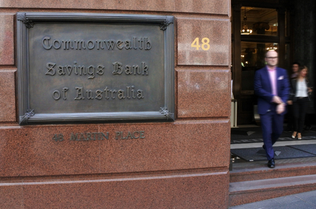 SYDNEY - OCT 20 2016:Commonwealth Bank of Australia, an Australian multinational bank with businesses across New Zealand, Fiji, Asia, USA and the United Kingdom. Editorial