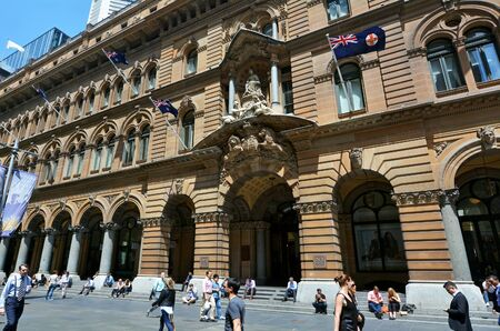 SYDNEY - OCT 20 2016:The General Post Office Building is a landmark building located in Martin Place, Sydney New South Wales Australia.