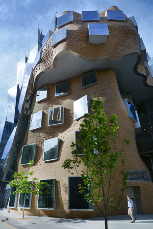 frank   gehry: Sydney, Australia - OCT 20 2016:Dr Chau Chak Wing Building in Sydney, Australia. It is the first building in Australia designed by Canadian American architect Frank Gehry.