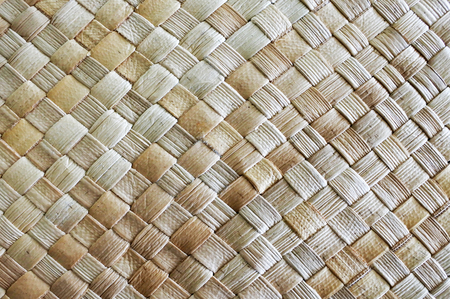 Fijian Coconut Palm leaves weaving background and texture.