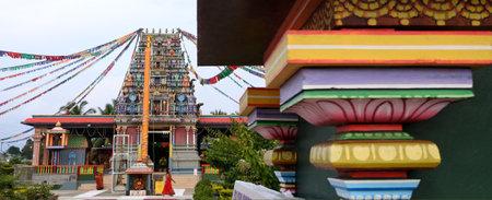 worshipper: NADI, FIJI - FEB 09 2017:Indo-Fijian woman worshipper at the Sri Siva Subramaniya Hindu temple in Nadi, Fiji. It is the largest Hindu temple in the Southern hemisphere. Editorial
