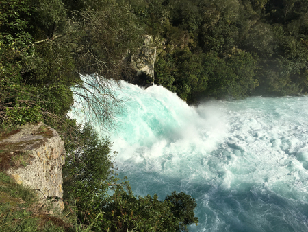 Huka Falls outside Taupo in the North Island of  New Zealand